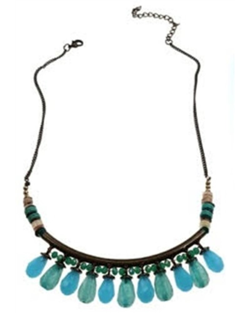 Blue Teardrops Necklace