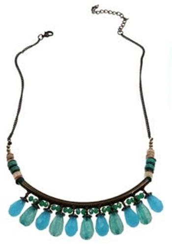 Blue Teardrops Necklace
