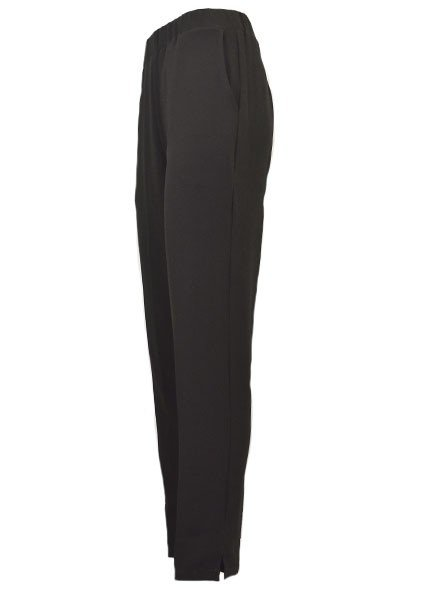 Jason Textured Crepe Pant In Black