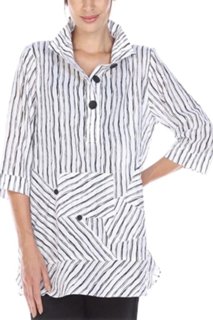 Naples Stripe Shirt In Black
