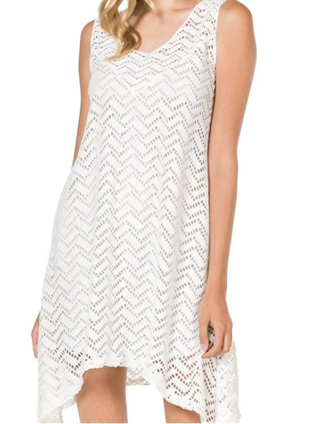 Chevron Tank Dress With Two Camis