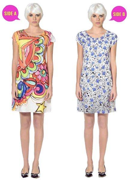 Animapop Animapop London Peace Reversible Dress