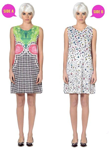 Animapop Animapop London Flowers & Eyes Reversible Dress