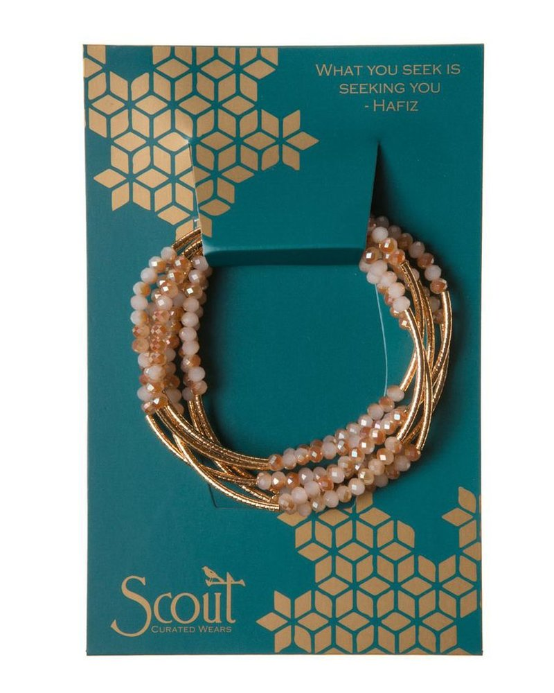 Scout Wrap Bracelet Or Necklace In Marmalade & Gold