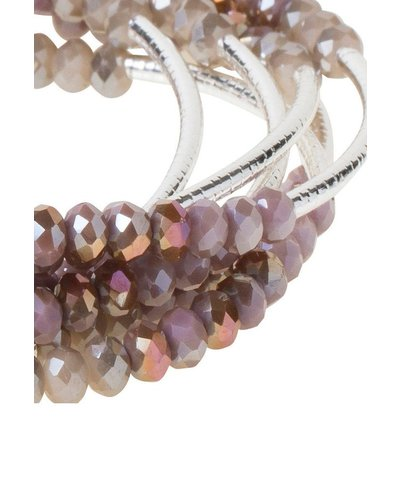 Scout Wrap Bracelet Or Necklace In Mauve Combo & Silver