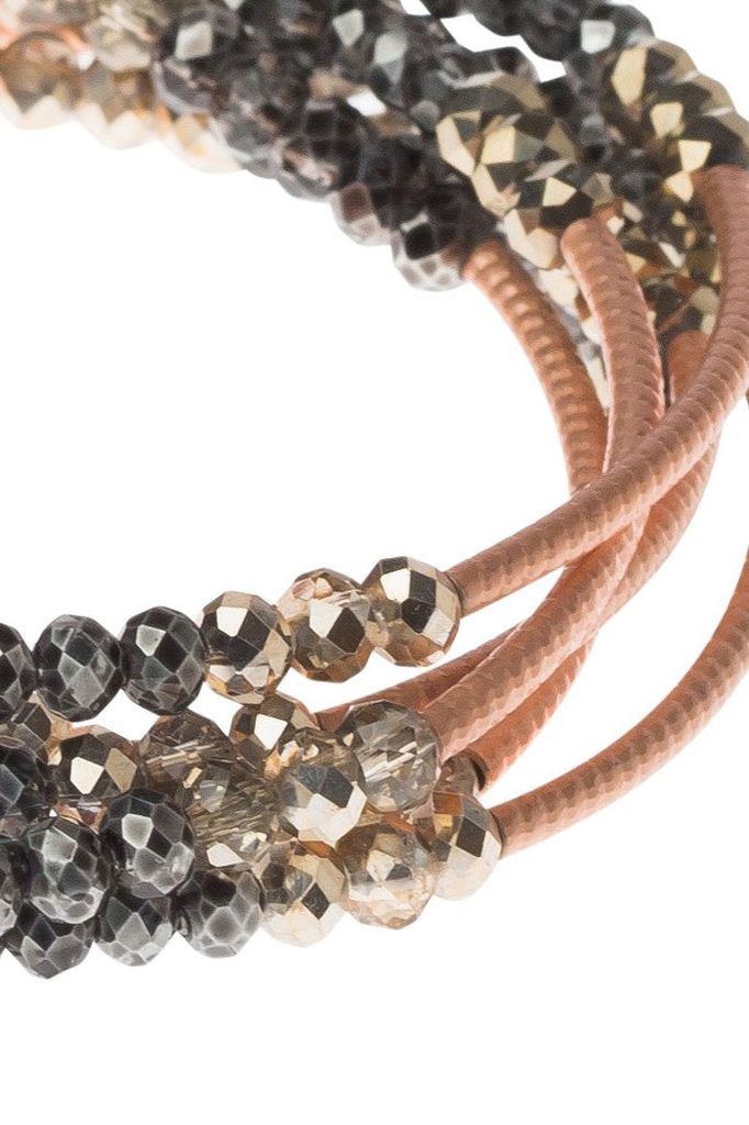 Scout Wrap Bracelet Or Necklace In Metallic Tri-Tone & Rose Gold