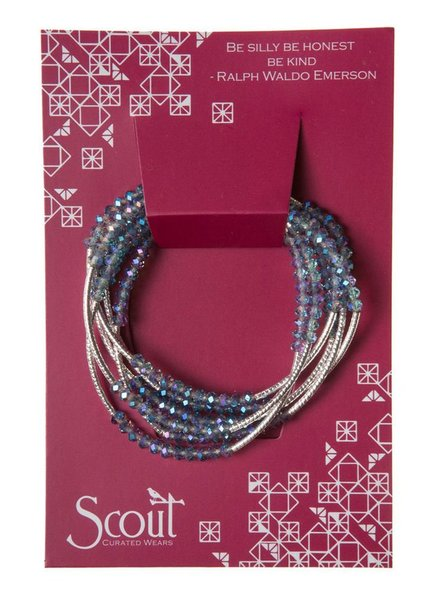 Scout Wrap Bracelet Or Necklace In Moonbeam & Silver