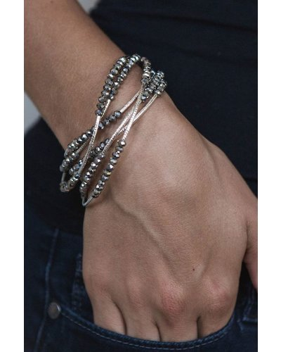 Scout Wrap Bracelet Or Necklace In Star & Silver