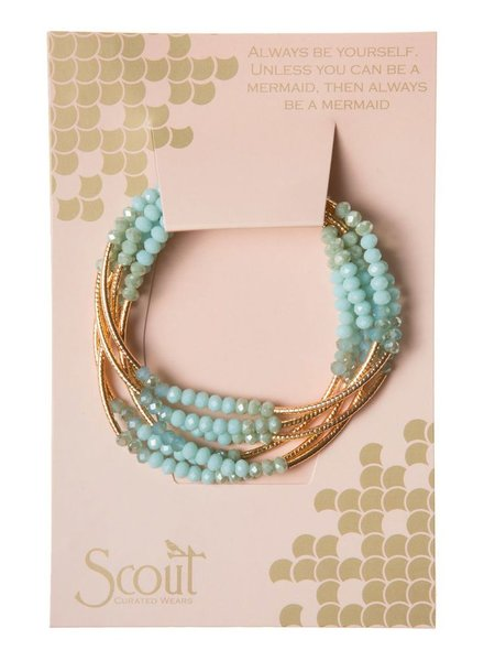 Scout Wrap Bracelet Or Necklace In Turquoise Combo & Gold