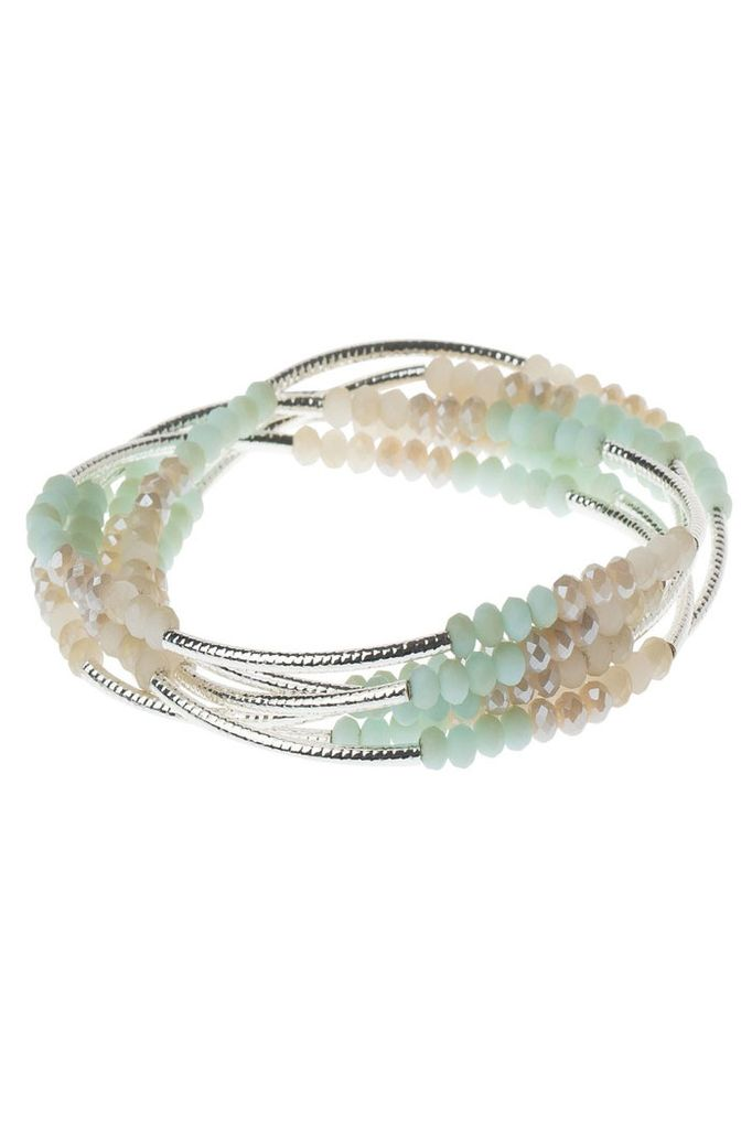 Scout Wrap Bracelet Or Necklace In Turquoise Combo & Silver