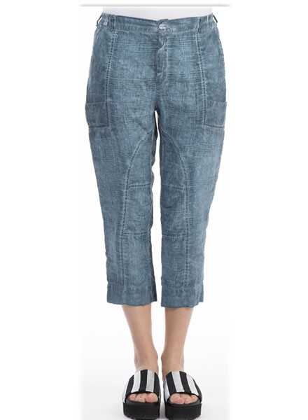 Griza's Crop Pant In Grey Blue