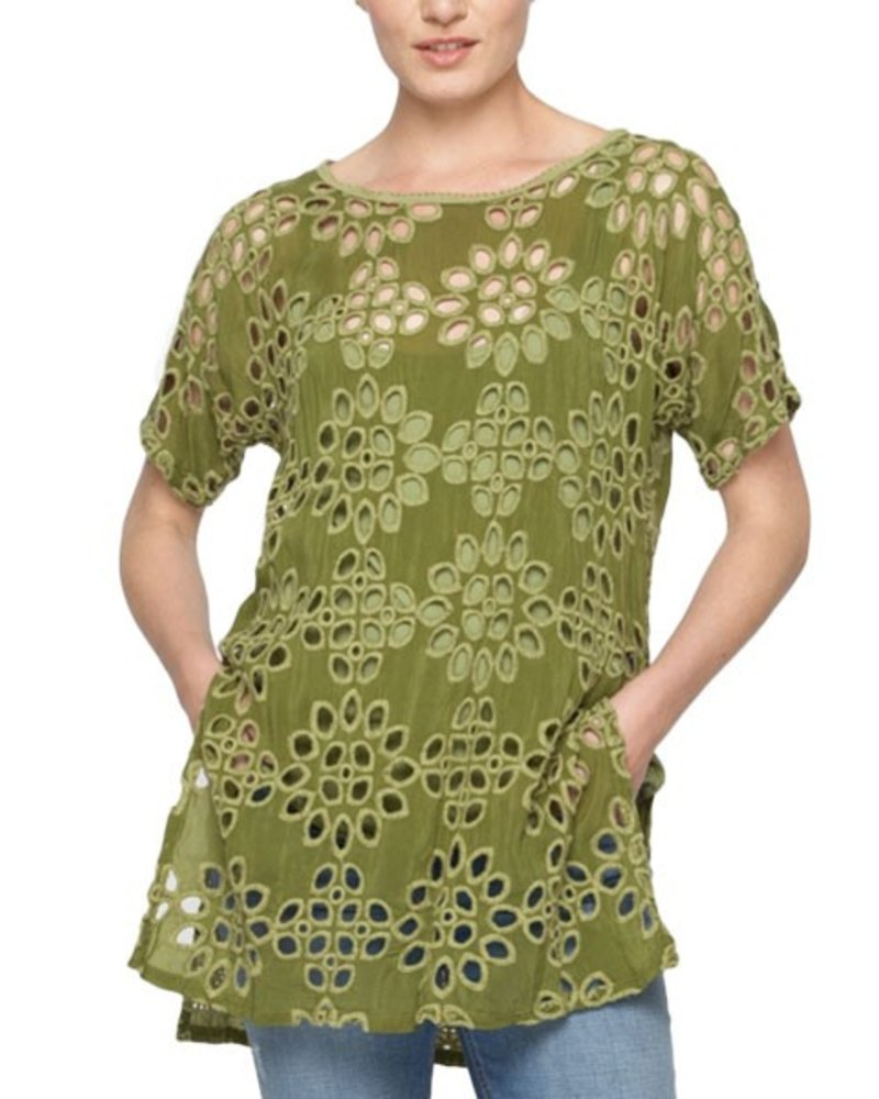 Johnny Was Tank & Lalla Tunic In Forest Green