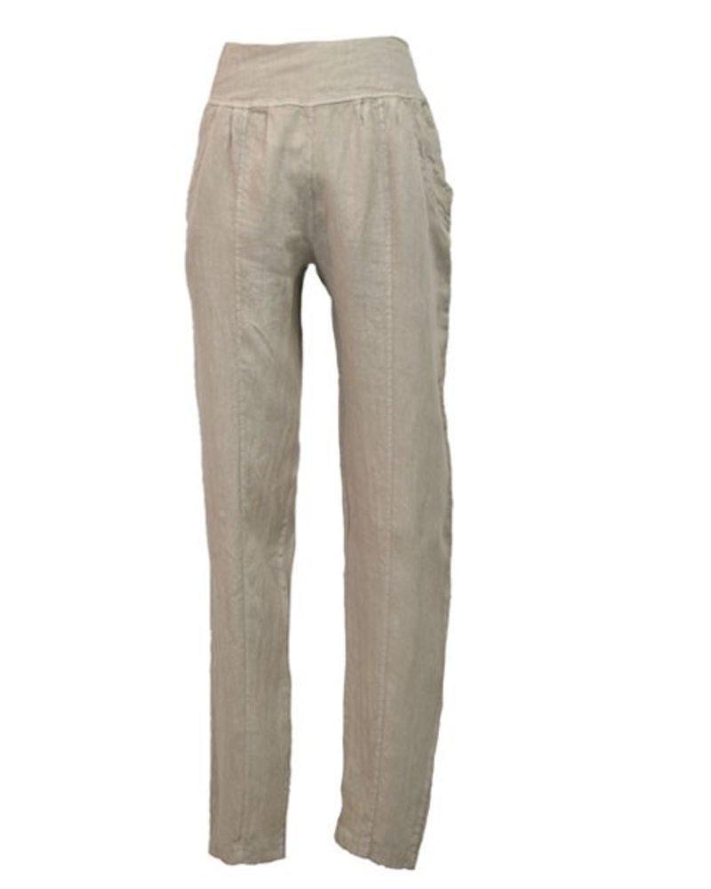 Ella Moda's Pencil Trousers In Stone