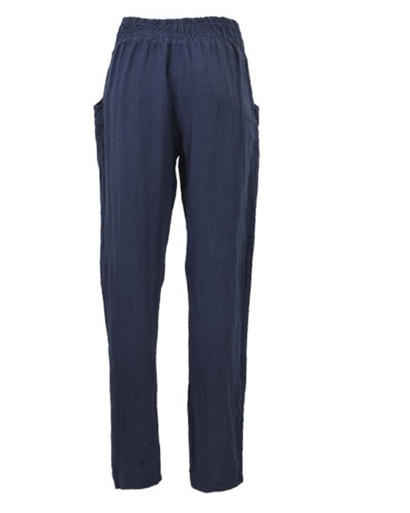 Ella Moda's Pencil Trousers In Navy