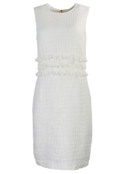 Boucle Dress In Off White