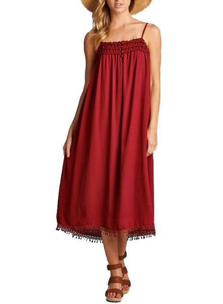 Smitten With Romance Dress In Red