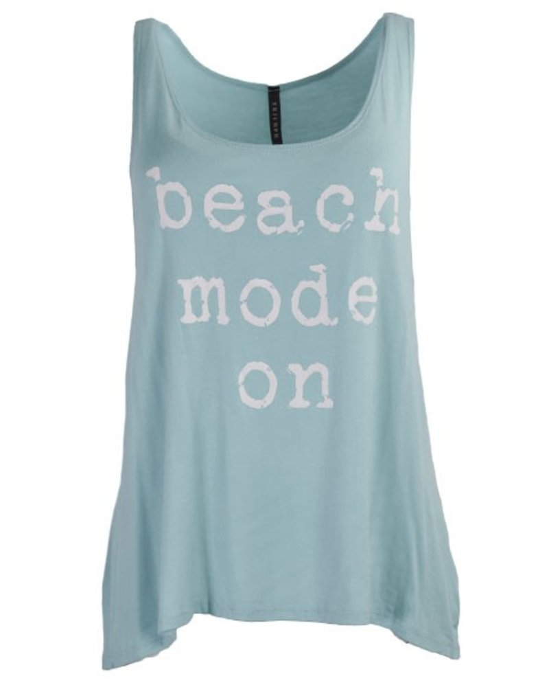 Beach Mode On Tank Top in Mint