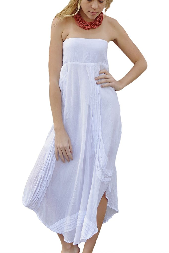 Bedhead Skirt Dress In White Shady And Katie