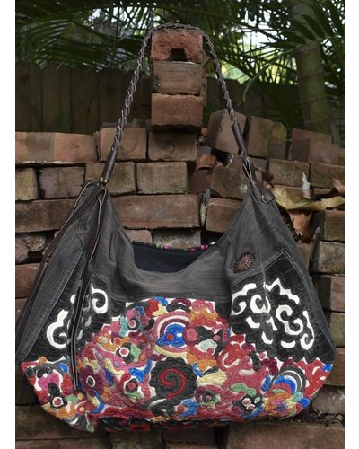 Hill Tribe Bag With Leather Strap