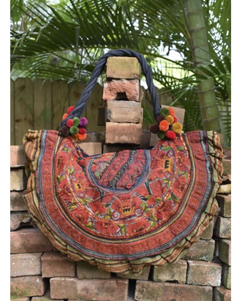 Hill Tribe Bag In A Half Moon