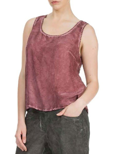 Grizas' Bamboo Silk Tank In Maroon