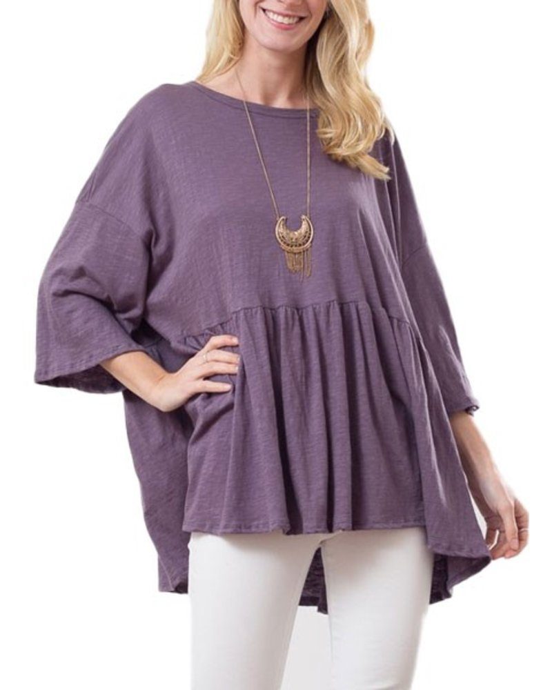 My Oversized Tee In Deep Violet