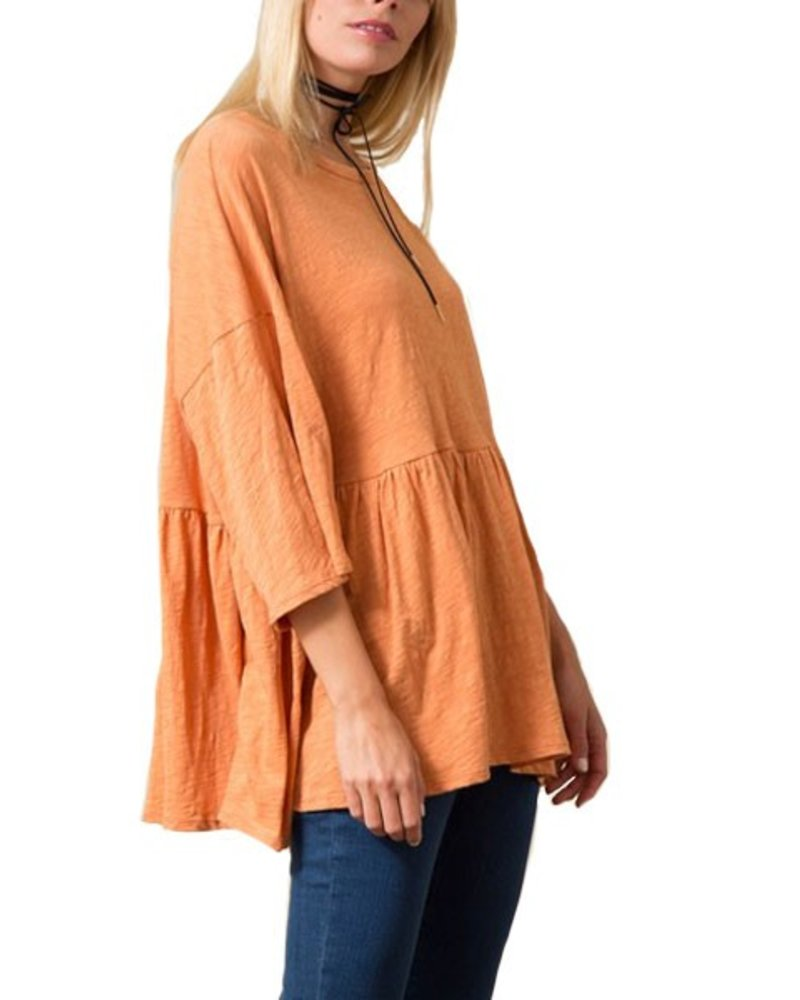 My Oversized Tee Shirt In Tangerine