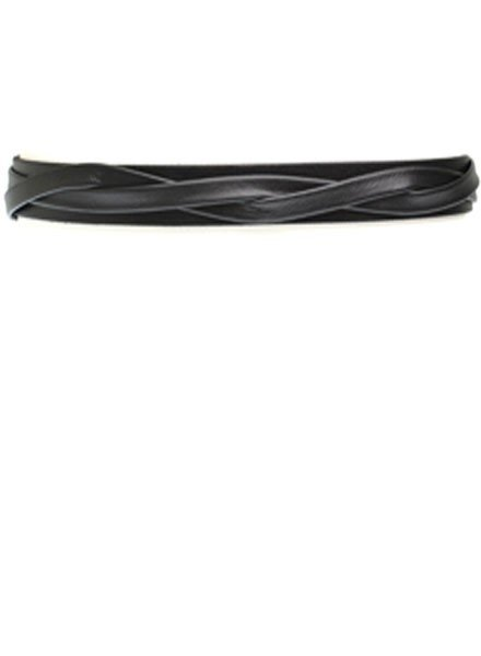 Ada's Skinny Wrap Belt In Black Leather