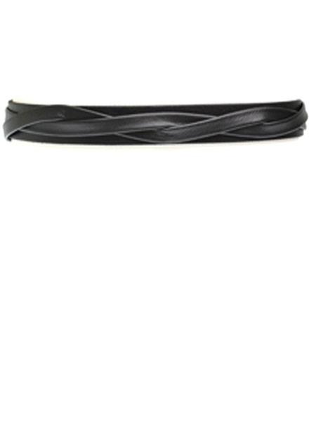 Ada's Skinny Wrap Belt In Black Leather