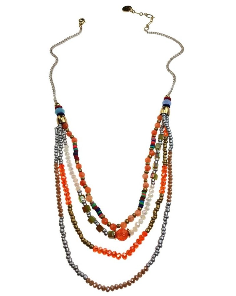 Rows Of Color Necklace