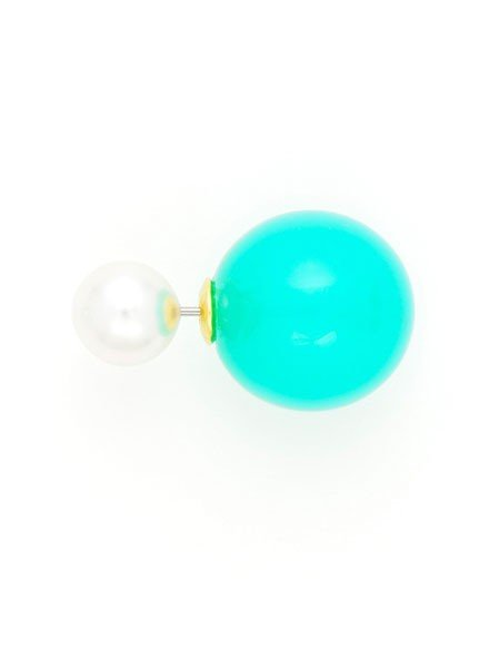 Pearlfection Pairing Peek-A-Boo Earrings In Teal
