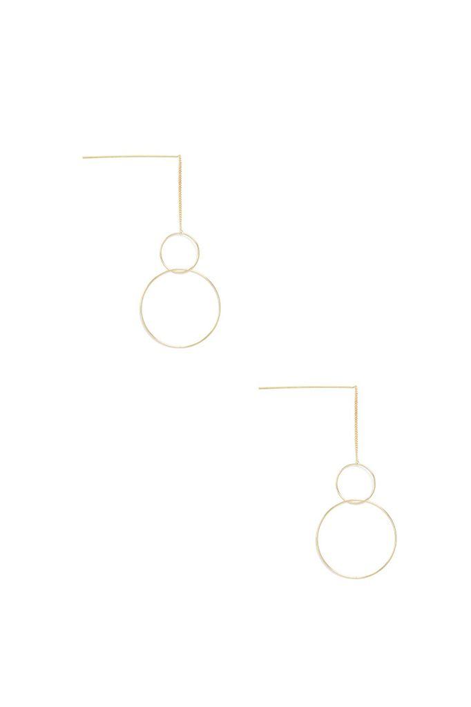 Drops Of Loops Earrings In Gold