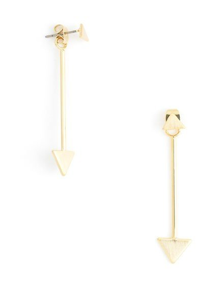 Hang In There Triangle Earrings