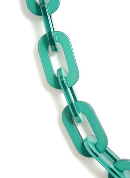 Lovely Links In Dark Green