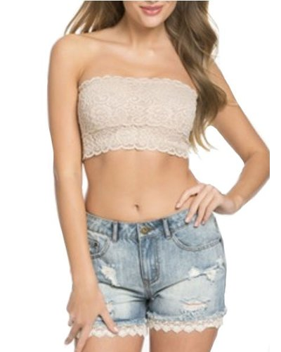 Lace Bandeau In Nude