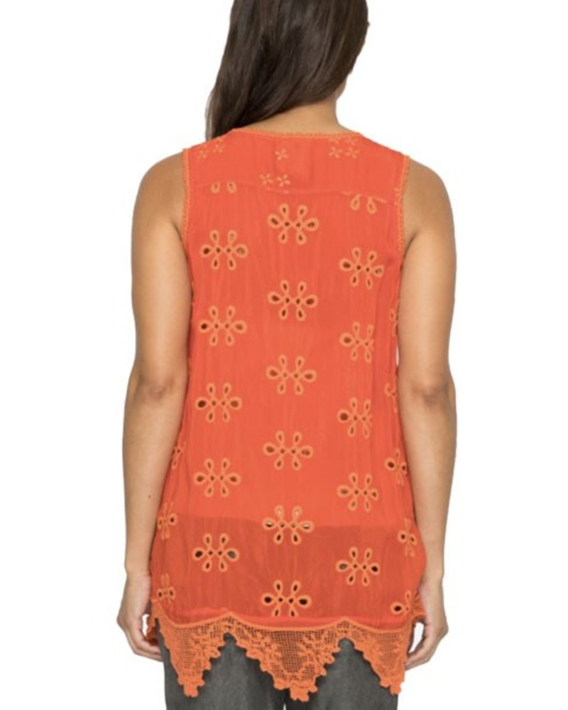 Johnny Was Johnny Was Mixed Embroidered In Electric Coral