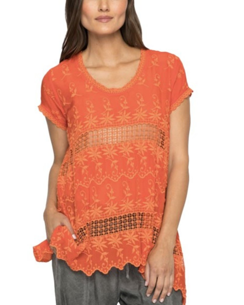 Johnny Was Johnny Was Lilano Tunic In Electric Coral