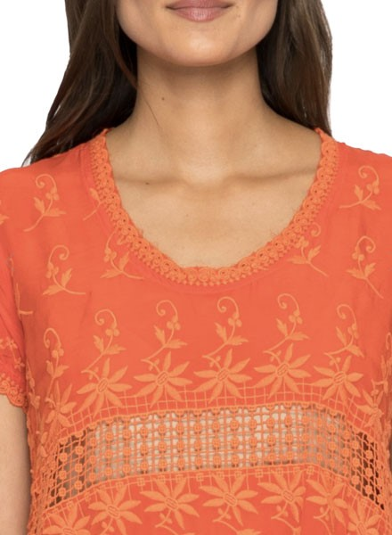 Johnny Was Lilano Tunic In Electric Coral