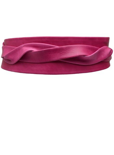 Ada's Wrap Belt In Fuchsia Leather