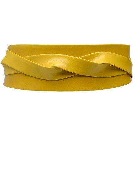 Ada Belts Ada's Wrap Belt In Mustard Leather