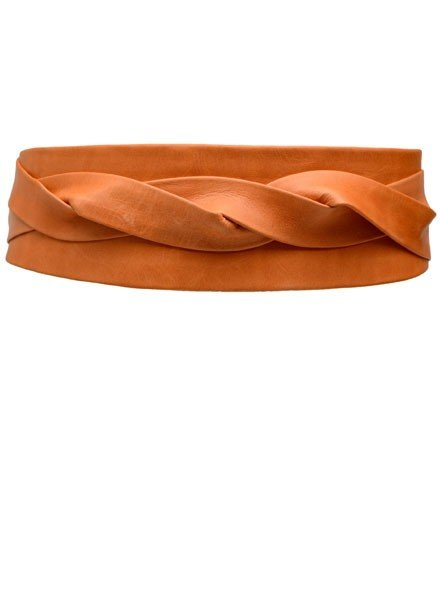 Ada's Wrap Belt In Papaya Leather
