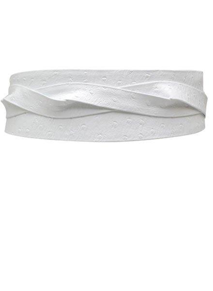 Ada Belts Ada's Wrap Belt In White Ostrich Leather