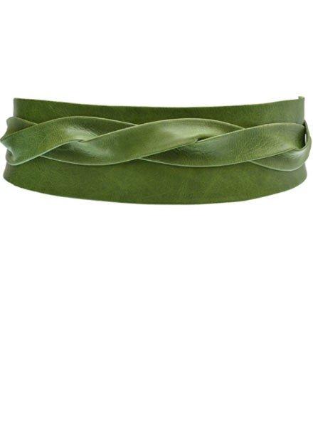Ada Belts Ada's Wrap Belt In Military Green Leather
