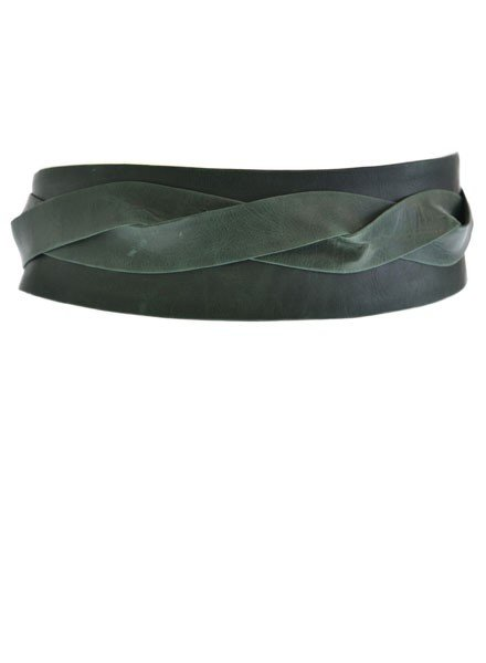 Ada's Wrap Belt In Forest Green