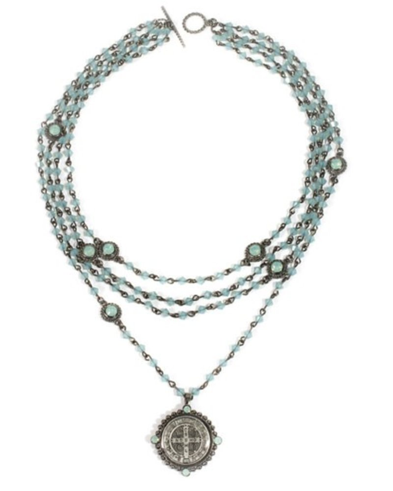 powder day products saints shineon necklace