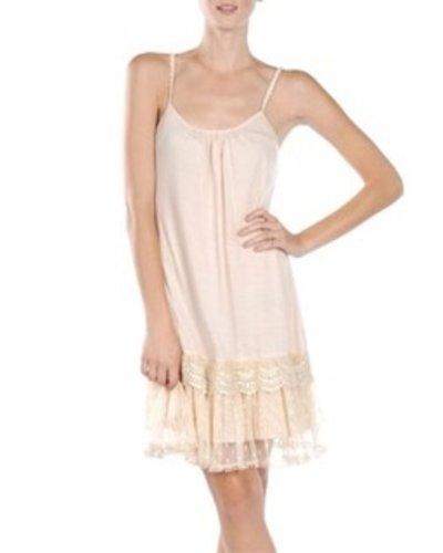 Lacey Slip Dress In Cream
