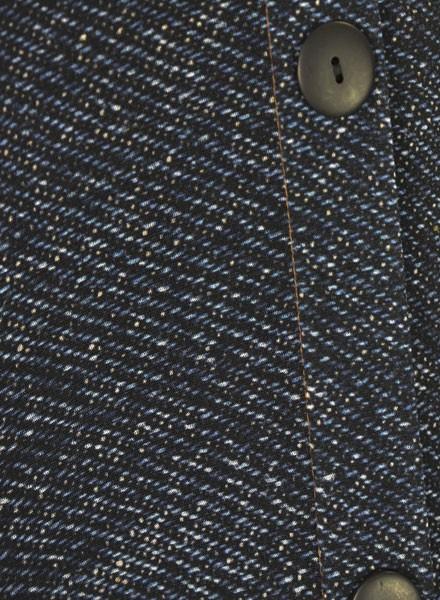 Petit Pois' Button Front Pants In Dark Denim