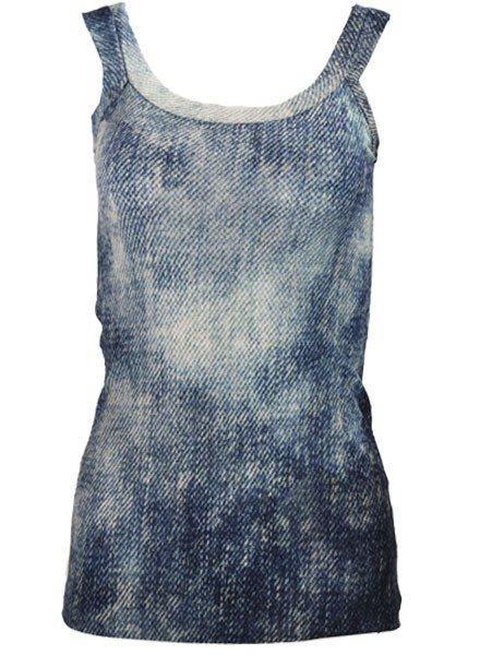 Petit Pois' Washout Denim Tank