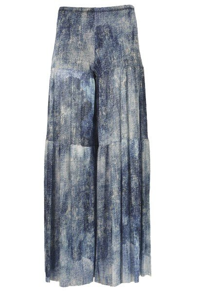 Petit Pois' Washout Denim Tiered Pant