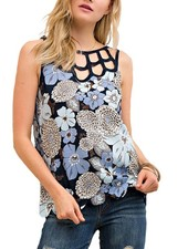 Ahh…Cut It Out Top In Blue